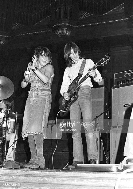 Maggie Bell and Jimmy McCulloch of Stone The Crows perform on stage at the Mayfair Ballroom NewcastleuponTyne 1972