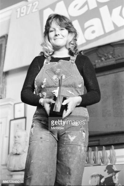Maggie Bell holding her award at The Oval Pop Festival Oval Cricket Ground South London The festival was sponsored by Music Magazine Melody Maker...