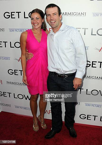 Maggie Black and actor Lucas Black arrive at AFI Associates Sony Pictures Classics' premiere Of Get Low held at the Samuel Goldwyn Theater inside The...