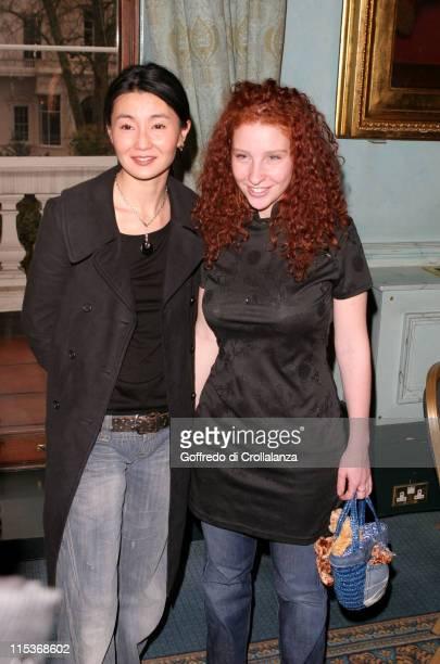 Maggie Cheung and Lola Naymark during The Renault French Film Season 2005 Press Launch at Institute of Directors in London Great Britain