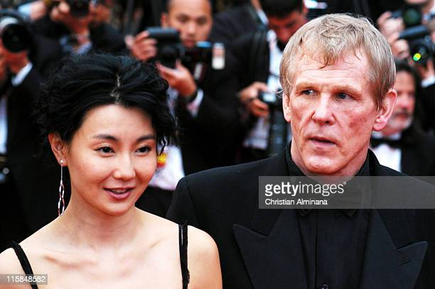 Maggie Cheung and Nick Nolte during 2004 Cannes Film Festival 'De Lovely' Premiere