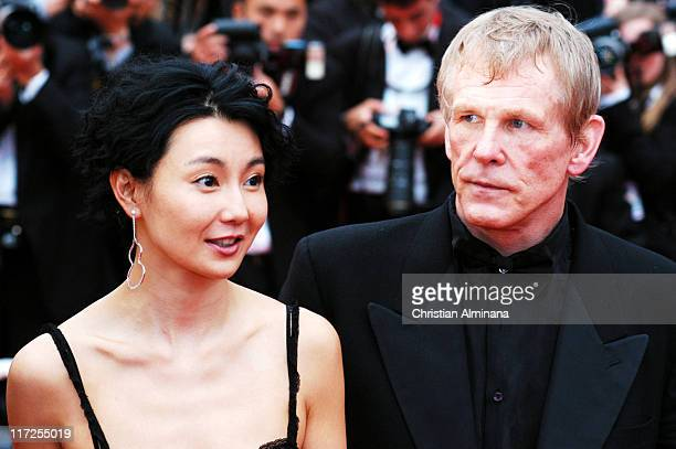 Maggie Cheung and Nick Nolte during 2004 Cannes Film Festival De Lovely Premiere