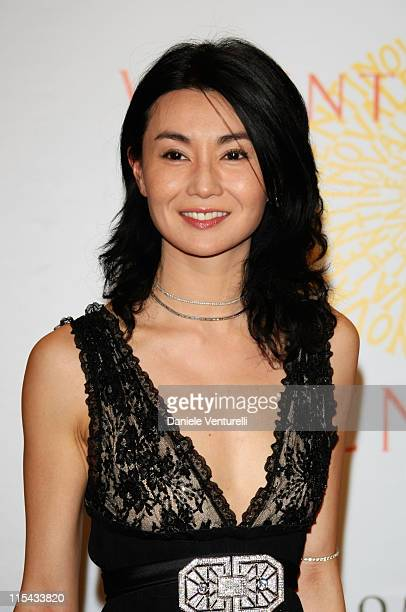 Maggie Cheung arrives for the 'Valentino 45th Anniversary Celebration' Gala held at the Villa Borghese in the Parco dei Daini on July 7 2007 in Rome...