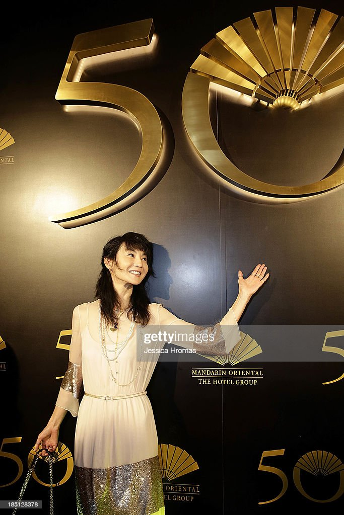 Maggie Cheung attends Mandarin Oriental Hong Kong's 50th Anniversary Gala on October 17, 2013 in Hong Kong.