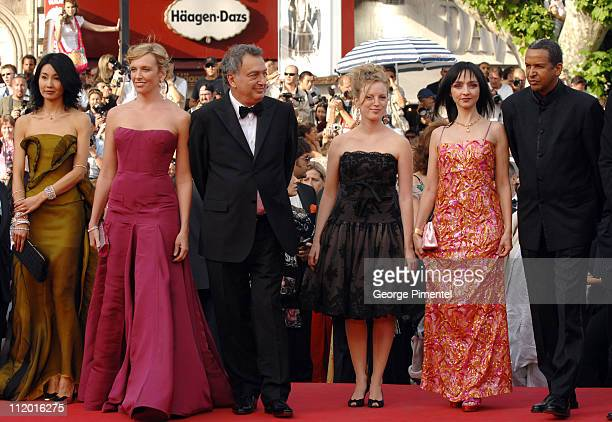 Maggie Cheung Toni Collette Stephen Frears President of the Jury Sarah Polley Maria de Medeiros and Abderrahmane Sissako