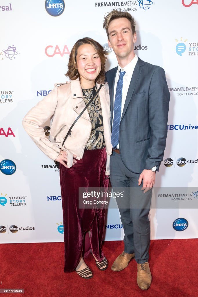 Maggie Chow and Stephen Walker attend The Junior Hollywood Radio & Television Society's 15th Annual Holiday Party at Le Jardin on December 6, 2017 in Hollywood, California.