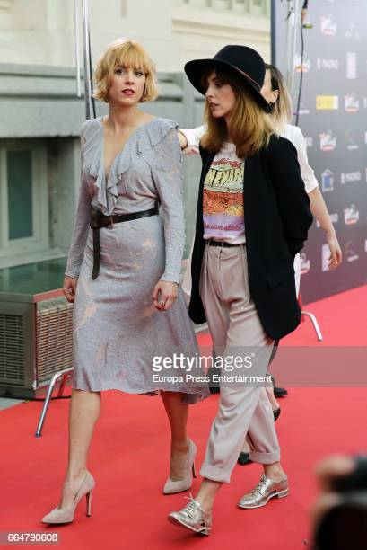Maggie Civantos and Leticia Dolera attend the 'Platino Awards 2017' presentation at the Madrid City Hall on April 4, 2017 in Madrid, Spain.
