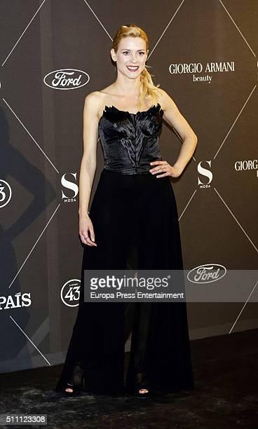 Maggie Civantos attend 'S Moda' Awards 2016 at Real Academia de Bellas Artes de San Fernando on February 17 2016 in Madrid Spain
