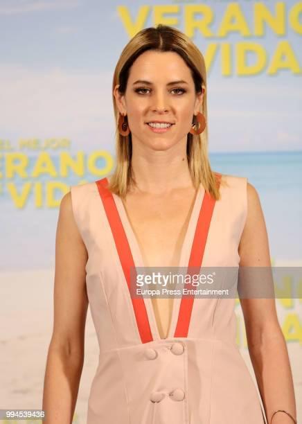 Maggie Civantos attends 'El Mejor Verano De Mi Vida' premiere on July 9, 2018 in Madrid, Spain.