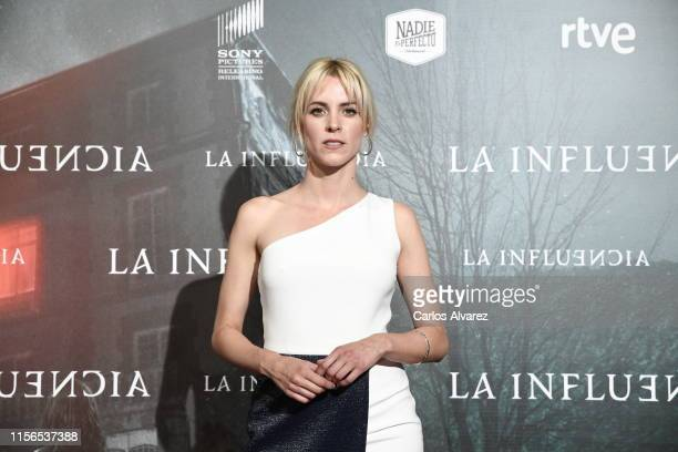 """Maggie Civantos attends """"La Influencia"""" photocall at Sony Pictures Headquarters on June 17, 2019 in Madrid, Spain."""