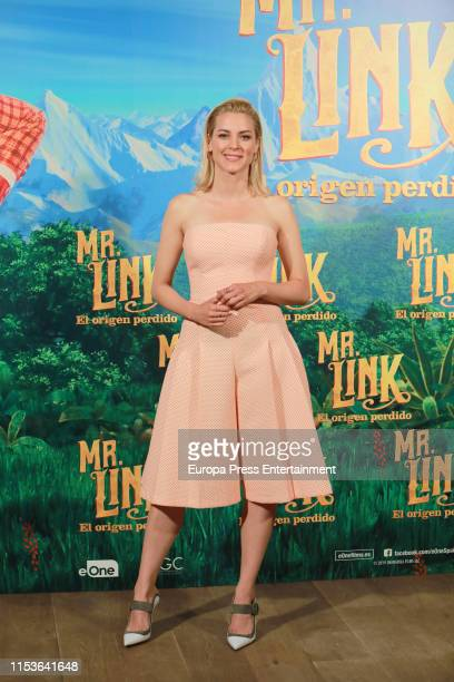 "Maggie Civantos attends ""Mr. Link. El Origen Perdido"" photocall at Urso Hotel on June 04, 2019 in Madrid, Spain."