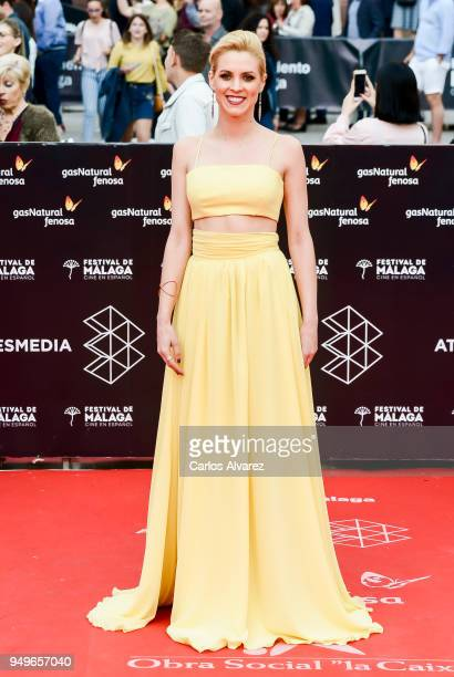 Maggie Civantos attends the 21th Malaga Film Festival closing ceremony at the Cervantes Teather on April 21 2018 in Malaga Spain