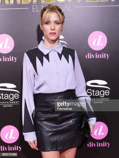 Maggie Civantos attends the 'El Guardaespaldas' musical premiere at the Coliseum Theater on September 28 2017 in Madrid Spain