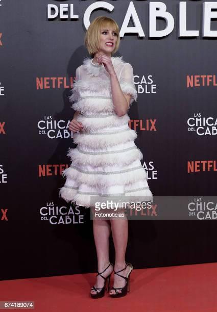 Maggie Civantos attends the 'Las Chicas del Cable' Netflix Tv Series premiere at Callao Cinema on April 27 2017 in Madrid Spain