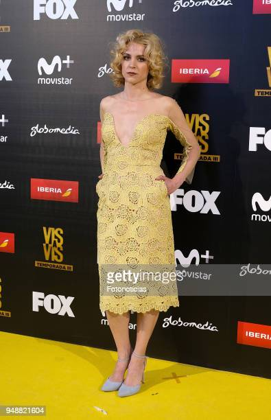Maggie Civantos attends the premiere of 'Vis a Vis' at Capitol Cinema on April 19 2018 in Madrid Spain