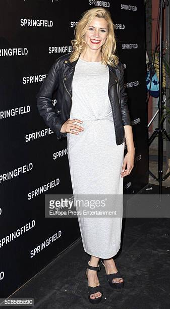 Maggie Civantos attends the Springfield fashion film presentation photocall at Fortuny palace on May 5 2016 in Madrid Spain