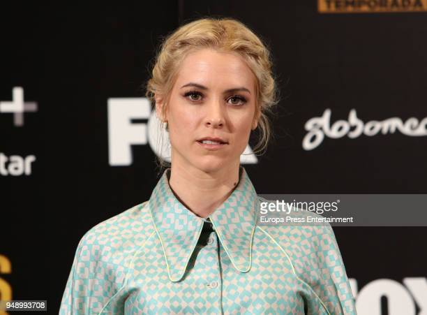 Maggie Civantos attends the 'Vis A Vis' photocall at VP Plaza de Espana Hotel on April 19, 2018 in Madrid, Spain.