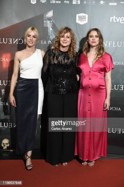 """Maggie Civantos, Emma Suarez and Manuela Velles attend """"La Influencia"""" photocall at Sony Pictures Headquarters on June 17, 2019 in Madrid, Spain."""