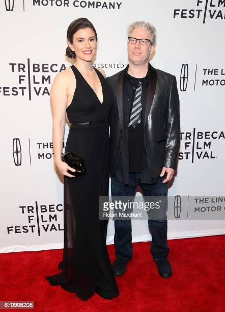 """Maggie Contreras and Eddie Schmidt attend """"Gilbert"""" Premiere during 2017 Tribeca Film Festival at SVA Theater on April 20, 2017 in New York City."""