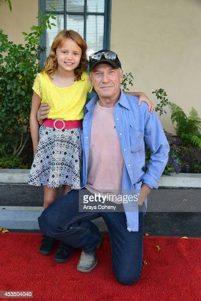 Maggie Elizabeth Jones and Ted Levine arrive at the screening of Child Of Grace Arrivals at Raleigh Studios on August 11 2014 in Los Angeles...