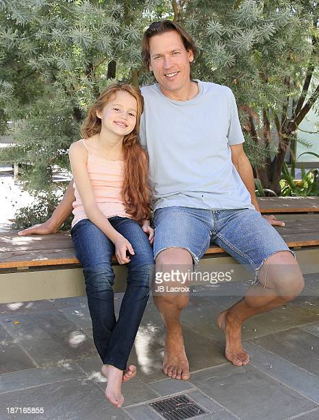 Maggie Elizabeth Jones and Thomas Hildreth are seen on location for 'The Girl In The Lake' on November 6 2013 in Malibu California