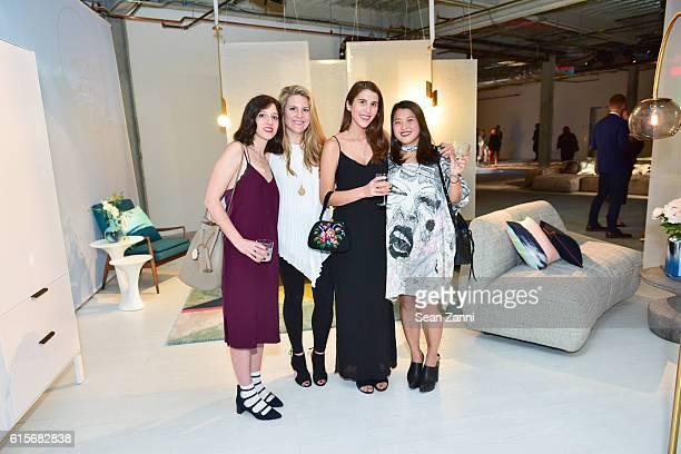 Maggie Farah Liz Lighthall Alexandra de la Vega and Sewon Kin attend West Elm Headquarters Party at 55 Water Street on October 18 2016 in New York...