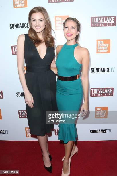 Maggie Geha and Andrea Feczko attend the New York premiere of 'Top of the Lake China Girl' at The Film Society of Lincoln Center Walter Reade Theatre...