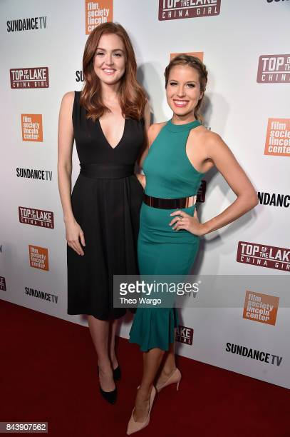 Maggie Geha and Andrea Feczko attend 'Top Of The Lake China Girl' Premiere at Walter Reade Theater on September 7 2017 in New York City