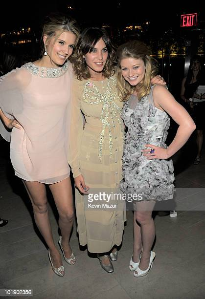 Maggie Grace Alexa Chung and Emille de Ravin attends the 2010 CFDA Fashion Awards at Alice Tully Hall Lincoln Center on June 7 2010 in New York City