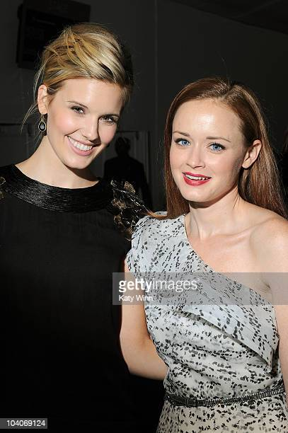 Maggie Grace and Alexis Bledel attend MercedesBenz Fashion Week at Lincoln Center on September 13 2010 in New York City