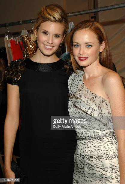 Maggie Grace and Alexis Bledel attend the Monique Lhuillier Spring 2011 fashion show during MercedesBenz Fashion Week at The Stage at Lincoln Center...