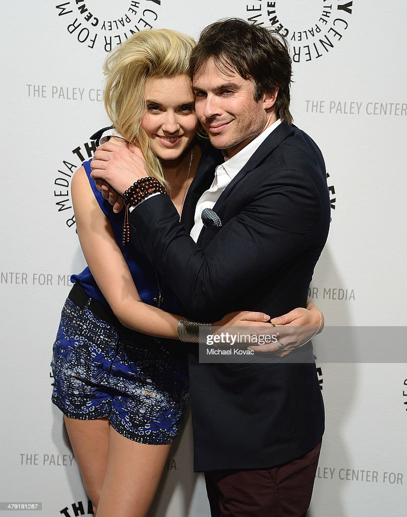 Maggie Grace (L) and Ian Somerhalder attend The Paley Center For Media's PaleyFest 2014 Honoring 'Lost: 10th Anniversary Reunion' at Dolby Theatre on March 16, 2014 in Hollywood, California.