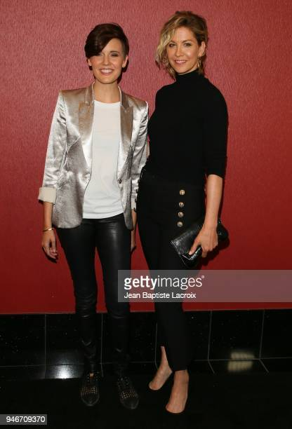 Maggie Grace and Jenna Elfman attend the Fathom Events and AMC's 'Survival Sunday The Walking Dead And Fear The Walking Dead' on April 15 2018 in...