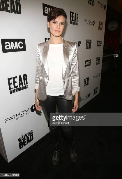 Maggie Grace attends AMC Survival Sunday The Walking Dead/Fear the Walking Dead on April 15 2018 in Los Angeles California