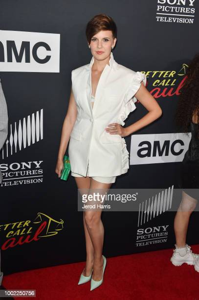 Maggie Grace attends AMC's 'Better Call Saul' Season 4 Premiere at UA Horton Plaza 8 on July 19 2018 in San Diego California