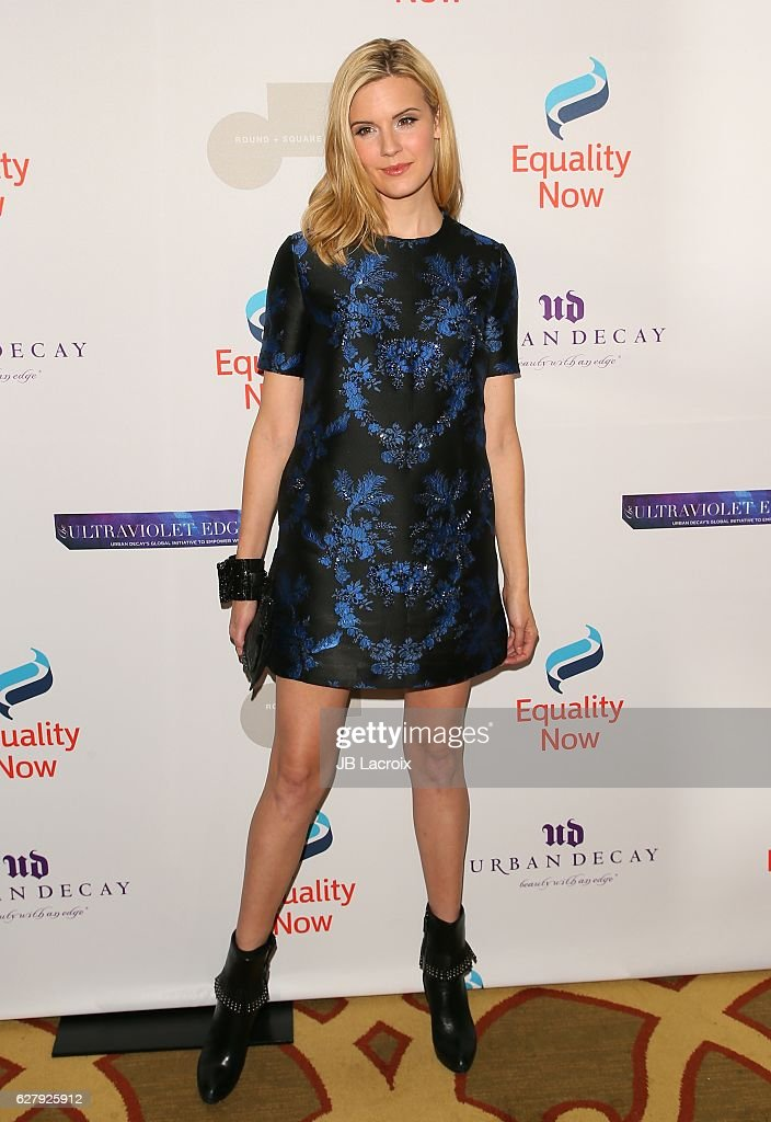 Maggie Grace attends Equality Now's 3rd annual 'Make Equality Reality' gala on December 05, 2016 in Beverly Hills, California.