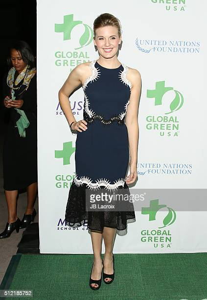 Maggie Grace attends Global Green USA's 13th annual preOscar party at Mr C Beverly Hills on February 24 2016 in Los Angeles California