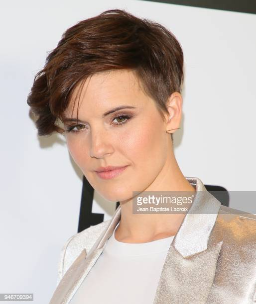 Maggie Grace attends the Fathom Events and AMC's 'Survival Sunday The Walking Dead And Fear The Walking Dead' on April 15 2018 in Century City...