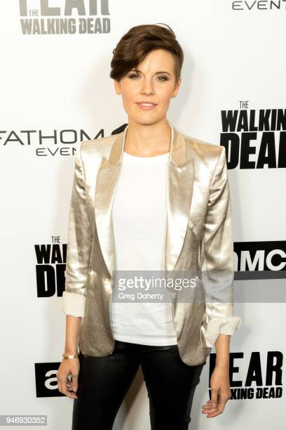 Maggie Grace attends the 'The Walking Dead' 'Fear The Walking Dead' Celebrate Survival Sunday on April 15 2018 in Century City California