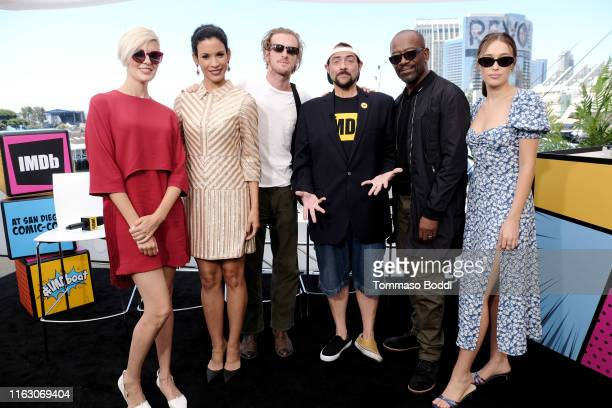 Maggie Grace, Danay Garcia, Austin Amelio, Kevin Smith, Lennie James and Alycia Debnam-Carey attend the #IMDboat at San Diego Comic-Con 2019: Day Two...