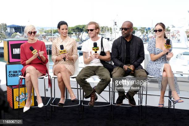 Maggie Grace, Danay Garcia, Austin Amelio, Lennie James and Alycia Debnam-Carey speak onstage the #IMDboat at San Diego Comic-Con 2019: Day Two at...