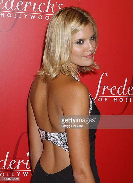 Maggie Grace during 2nd Annual Lingerie Art Auction Fashion Show to Benefit Rainn Hosted by Frederick's of Hollywood Arrivals at Hollywood Roosevelt...