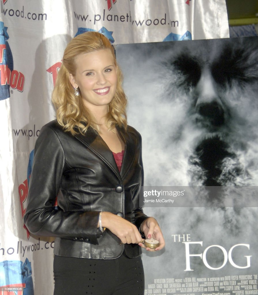 """Maggie Grace Donates Memorabilia From Her New Movie """"The Fog"""" at Planet"""