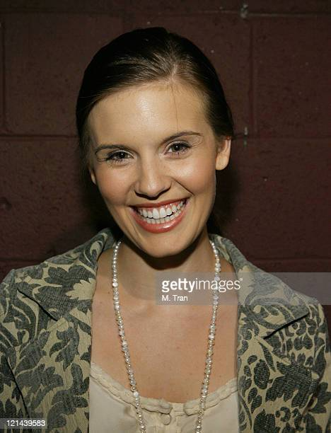 Maggie Grace during Martin Sherman's Theatrical version of 'BENT' Opening Night at Theatre 68 in Hollywood California United States