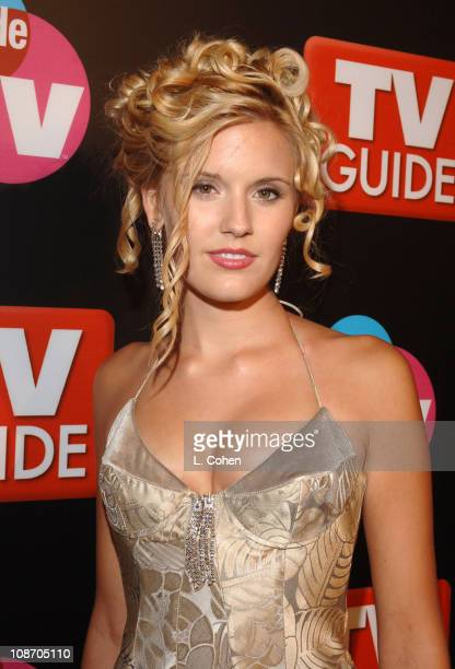 Maggie Grace during The 57th Annual Emmy Awards TV Guide and Inside TV After Party Red Carpet at Roosevelt Hotel in Hollywood California United States