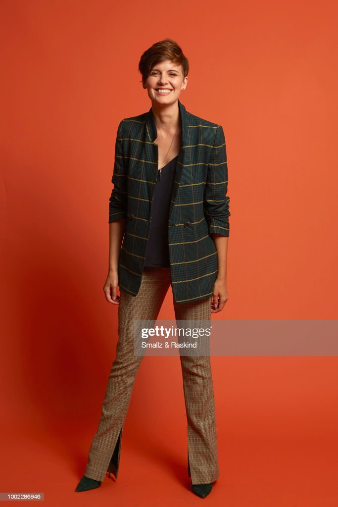 Maggie Grace from AMC's 'Fear the Walking Dead' poses for a portrait in the Getty Images Portrait Studio powered by Pizza Hut at San Diego 2018 Comic Con at Andaz San Diego on July 19, 2018 in San Diego, California.