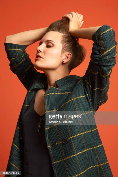 Maggie Grace from AMC's 'Fear the Walking Dead' poses for a portrait in the Getty Images Portrait Studio powered by Pizza Hut at San Diego 2018 Comic...