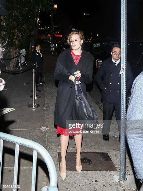 Maggie Grace is seen on February 01 2016 in Los Angeles California