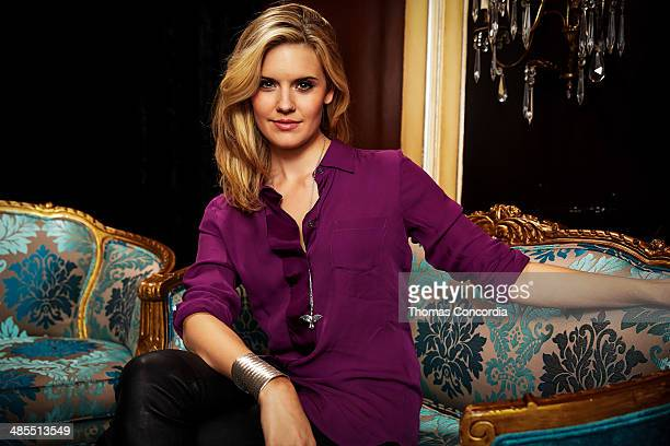 Maggie Grace visits the WireImage portrait studio at the Tribeca Film Festival Films 'About Alex' 'Gabriel' 'Match' Tribeca Press Day At The Carlton...