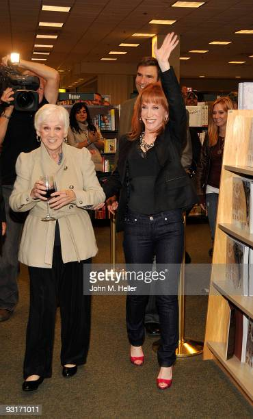 Maggie Griffin and Comedian/Actress/Author Kathy Griffin attend the signing of her new book A Memoir According to Kathy Griffin at Barnes Noble at...